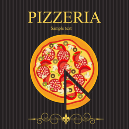 Pizza Illustrator 03 Vector