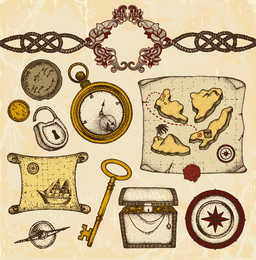 Ancient Nautical Theme Vector 2