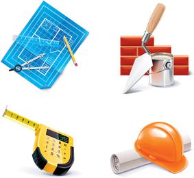 Bau-Werkzeuge-Vektor