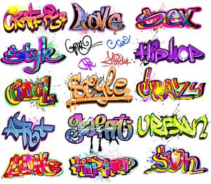Belo grafite fonte Design 01 Vector