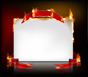 Flame Burning Paper Effect 04 Vector