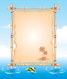 Vector Beach Theme Bulletin Board