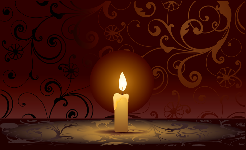 5 Candles Vector