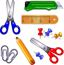 3D stationery element set