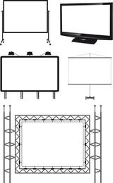 Variedade de tipos de vetor de modelo de outdoor ao ar livre