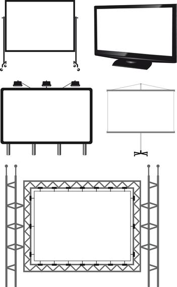 Variety Of Types Of Outdoor Billboard Template Vector Vector Download