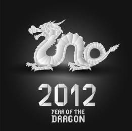 Origami Dragon 01 Vector