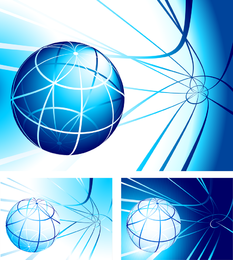 Abstract sphere with lines