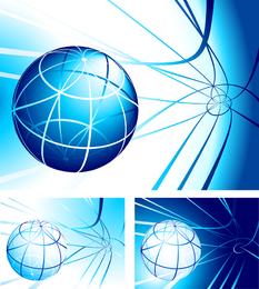 Esfera abstracta con lineas