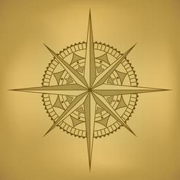 Alte Karte und Kompass-Vektor 2