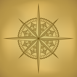 Old Map And Compass Vector 2