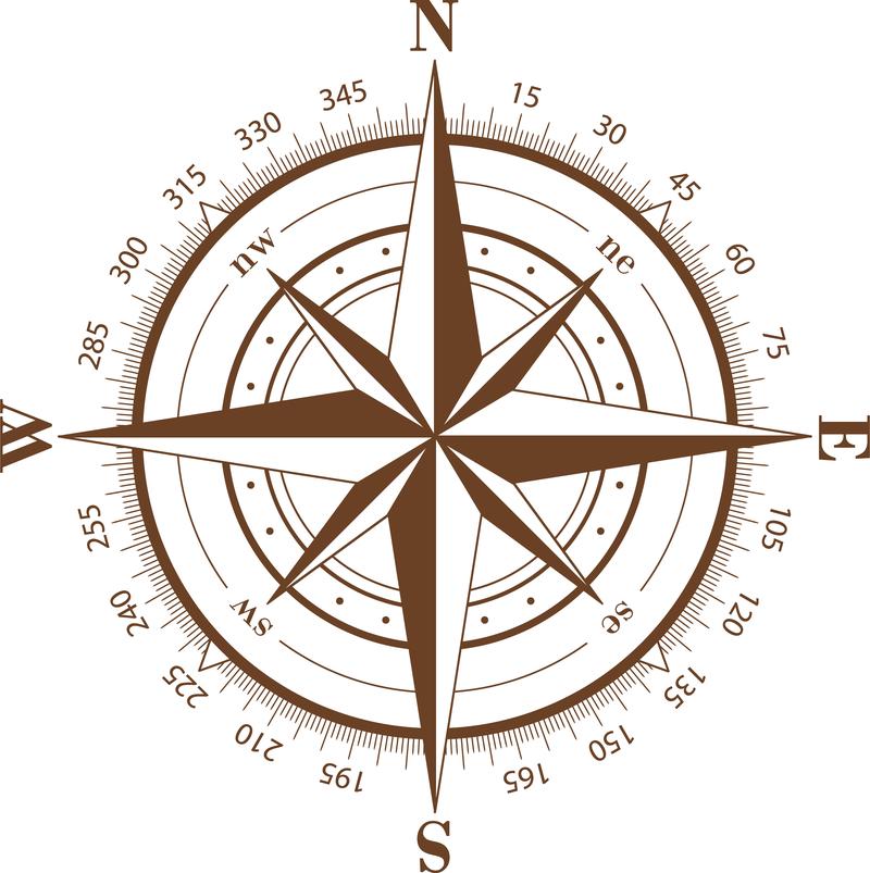 Ilustración brújula aislado - Descargar vector