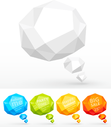 Fold Dialog 03 Vector