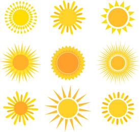 Conjunto de vetores de sol