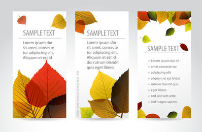 Beautiful Maple Leaf Bookmark 02 Vector
