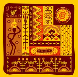 Vetor de Totem tribal clássico 5