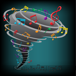 Color Music Key Symbols 04 Vector