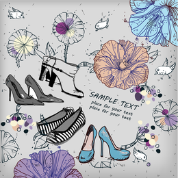 Shoes Fashion Illustrator 01 Vector