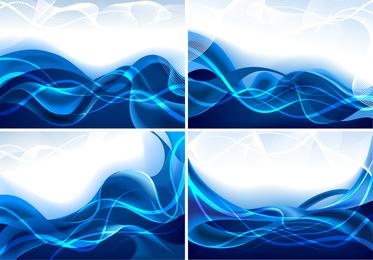 Líneas dinámicas de vector azul