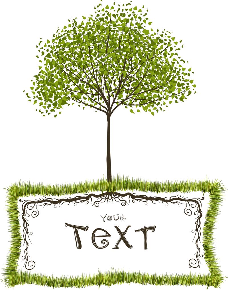 Árboles verdes Vector de cuadros de texto - Descargar vector