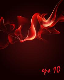 Flammen-roter Rauch des Vektor-3