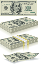 Us Currency 01 Vector