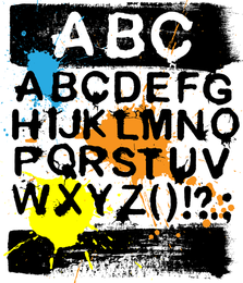 Ink Letters Vector