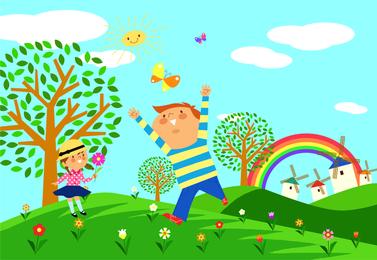 Kinder Umweltvektor 1