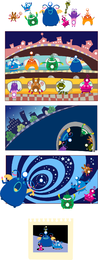 Cute monsters illustrations set