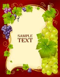 Vector botella llena de uvas