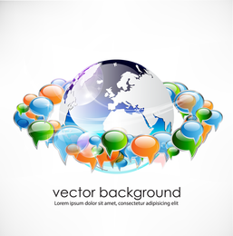 Concepto de negocio diálogo Vector de tendencia 2