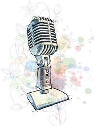 Hand Microphone Vector