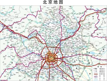 Beijing Map Ai Cdr