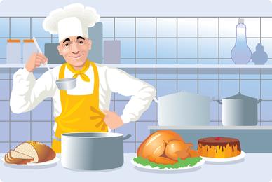 Cocina europea y americana cocina clip art