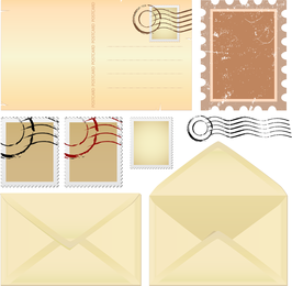 Envelopes De Nostalgia E Papel 01 Vector