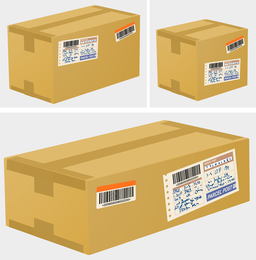 Logistics And Express Special Carton 02 Vector