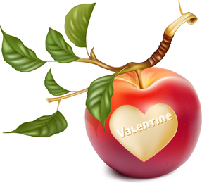 Vector determinado tallado en forma de manzana