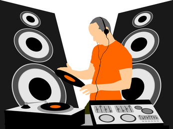 Techno music DJ design - Vector download