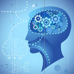 Vector del proceso de pensamiento subconsciente