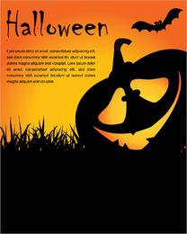 Carteles de halloween elemento vector