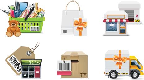 Shop-Einkaufen-Dekorations-Vektor