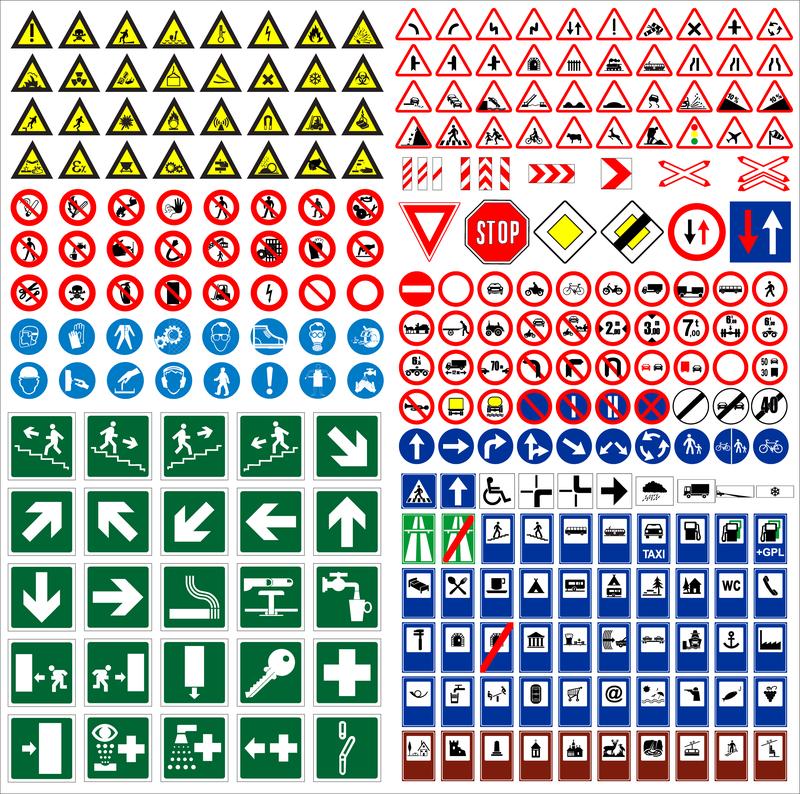Печать знаков дорожного движения