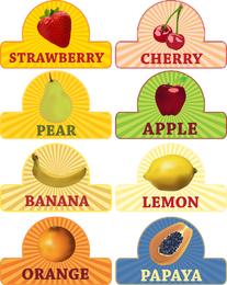 Vetor de tema de fruta