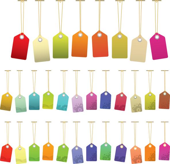 Variedad de vector de etiqueta de color - Descargar vector