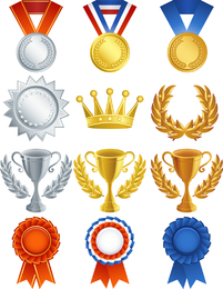 Vetor de troféu de medalha de medalhas