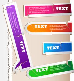 Fracture Texture Color Labels 01 Vector