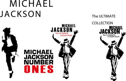 Conjunto de ilustraciones y siluetas de Michael Jackson.