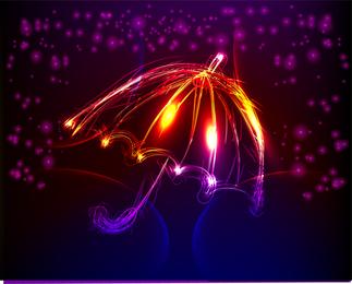 Itens de luz em um desenho vetorial