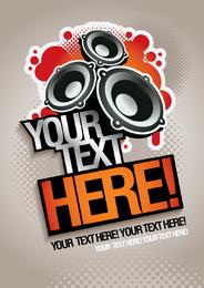 Design de alto-falantes de música com texto