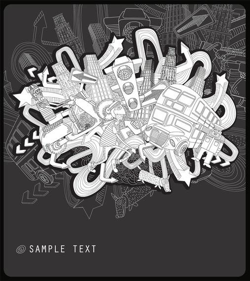 Intensive Fashion Illustrator Vector 1 Lines